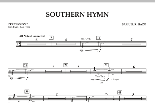 Southern Hymn - Percussion 2 (Concert Band)
