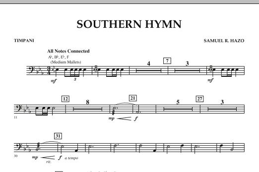 Southern Hymn - Timpani (Concert Band)