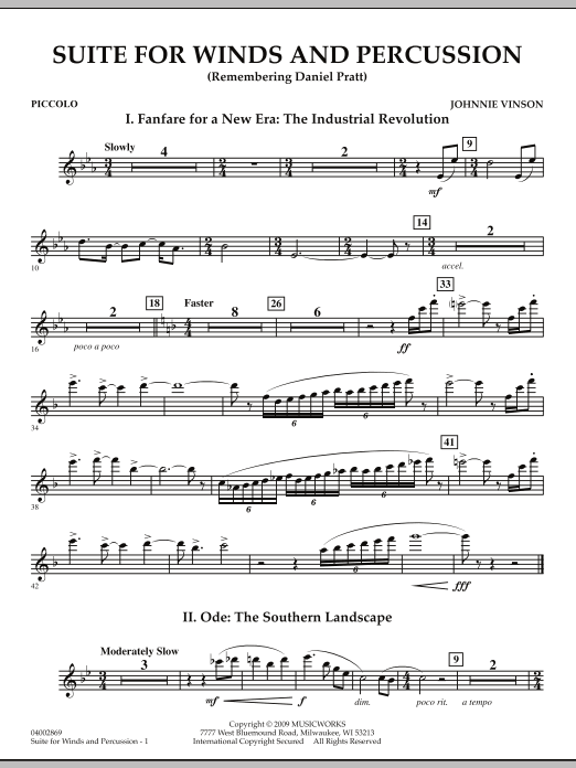 Suite for Winds and Percussion - Piccolo (Concert Band)