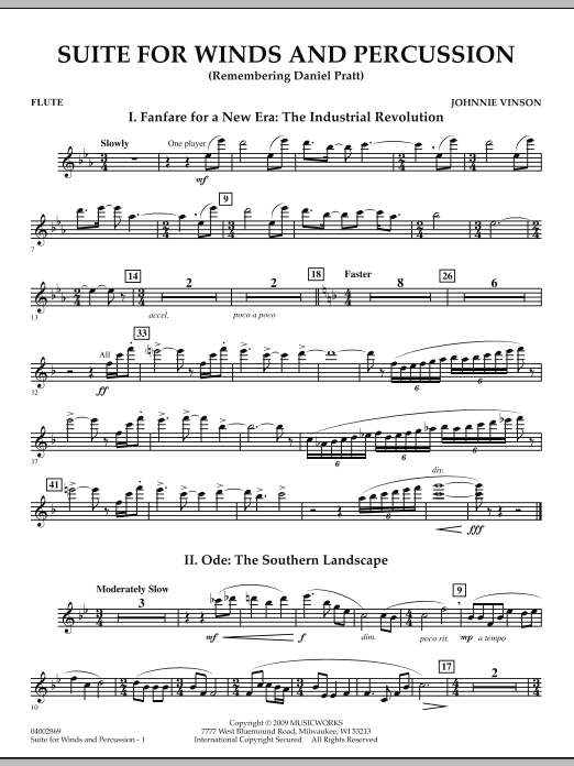 Suite for Winds and Percussion - Flute (Concert Band)