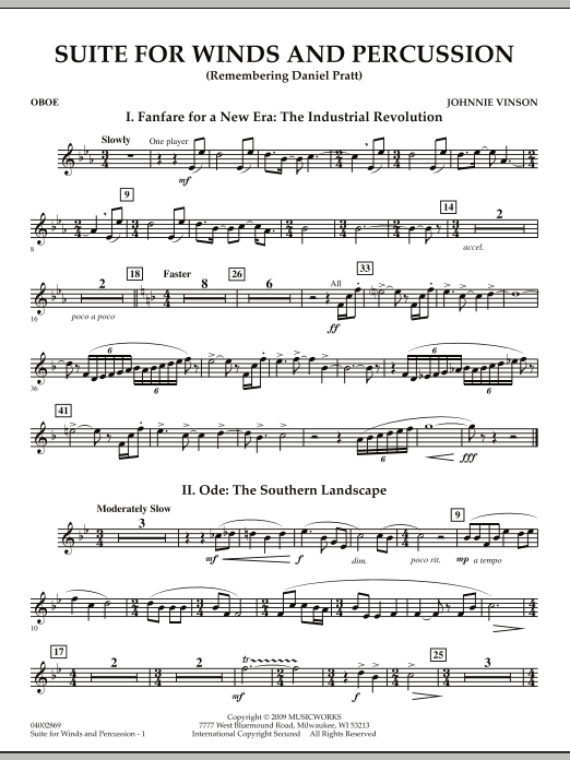 Suite for Winds and Percussion - Oboe (Concert Band)