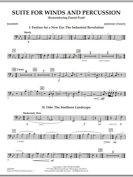 Suite for Winds and Percussion - Bassoon (Concert Band)