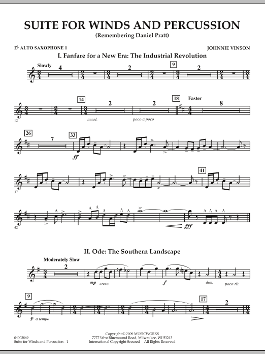 Suite for Winds and Percussion - Eb Alto Saxophone 1 (Concert Band)