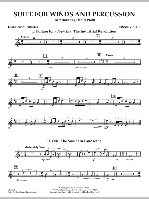Suite for Winds and Percussion - Eb Alto Saxophone 2 (Concert Band)