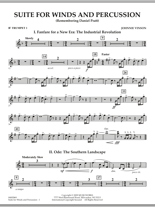 Suite for Winds and Percussion - Bb Trumpet 1 (Concert Band)