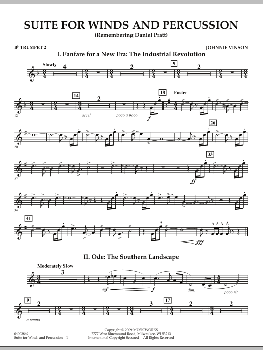 Suite for Winds and Percussion - Bb Trumpet 2 (Concert Band)