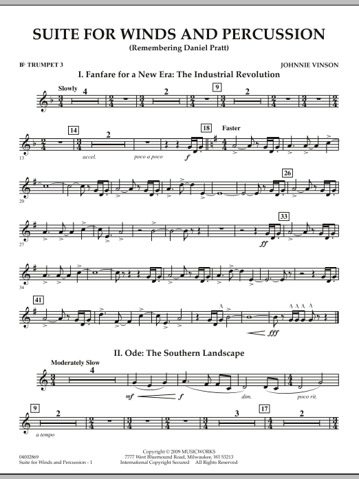 Suite for Winds and Percussion - Bb Trumpet 3 (Concert Band)