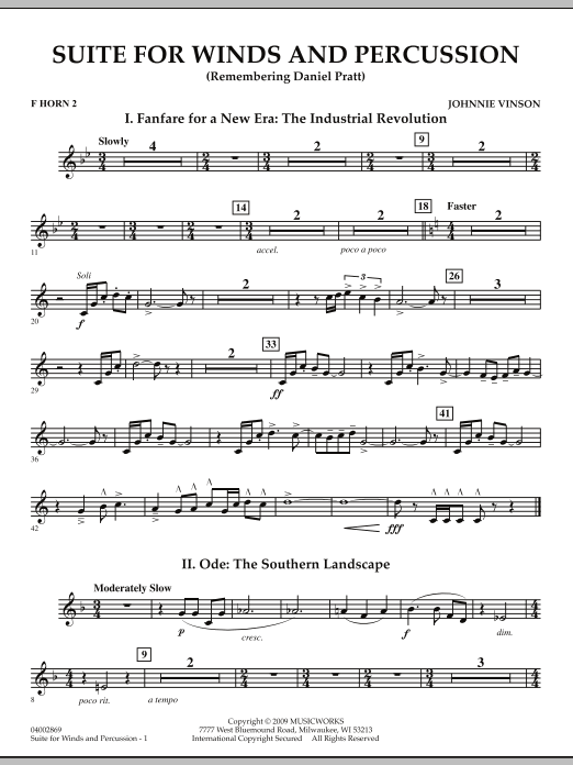 Suite for Winds and Percussion - F Horn 2 (Concert Band)