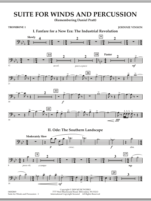 Suite for Winds and Percussion - Trombone 1 (Concert Band)