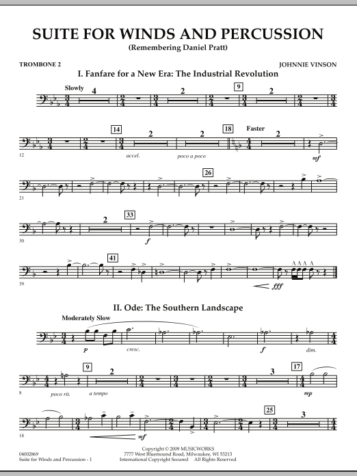 Suite for Winds and Percussion - Trombone 2 (Concert Band)