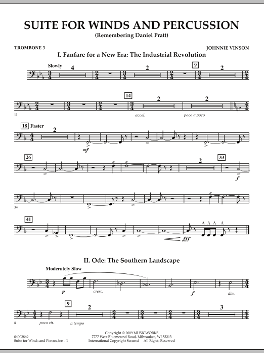 Suite for Winds and Percussion - Trombone 3 (Concert Band)