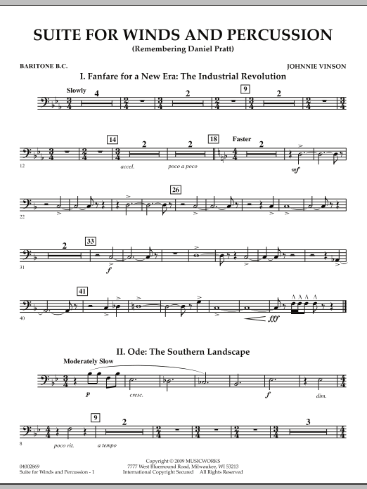 Suite for Winds and Percussion - Baritone B.C. (Concert Band)