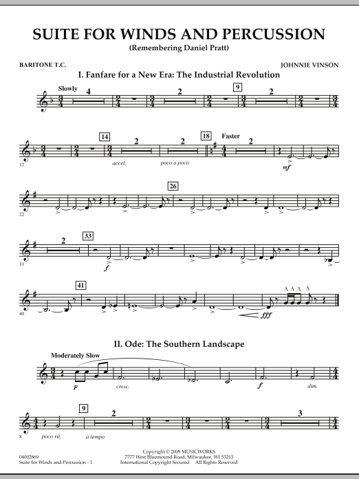 Suite for Winds and Percussion - Baritone T.C. (Concert Band)