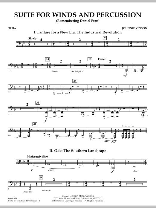 Suite for Winds and Percussion - Tuba (Concert Band)