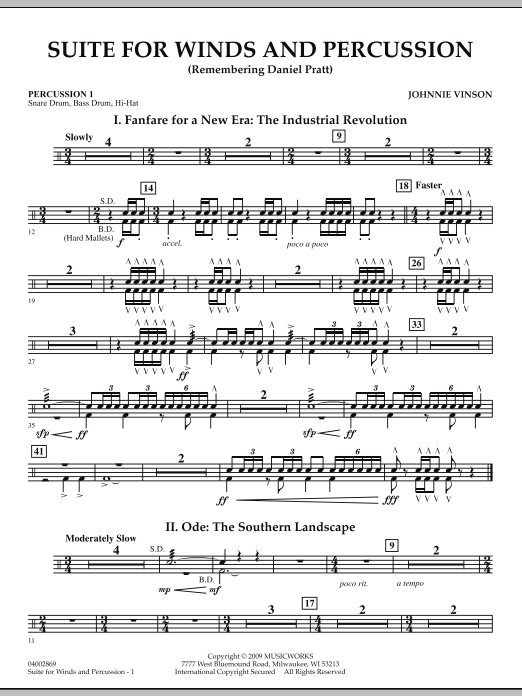 Suite for Winds and Percussion - Percussion 1 (Concert Band)