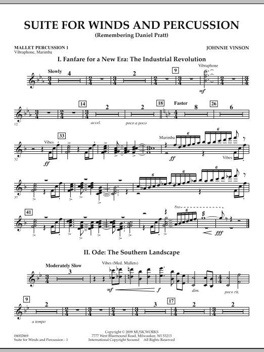 Suite for Winds and Percussion - Mallet Percussion 1 (Concert Band)