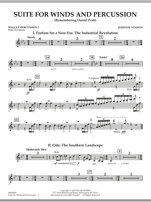 Suite for Winds and Percussion - Mallet Percussion 2 (Concert Band)