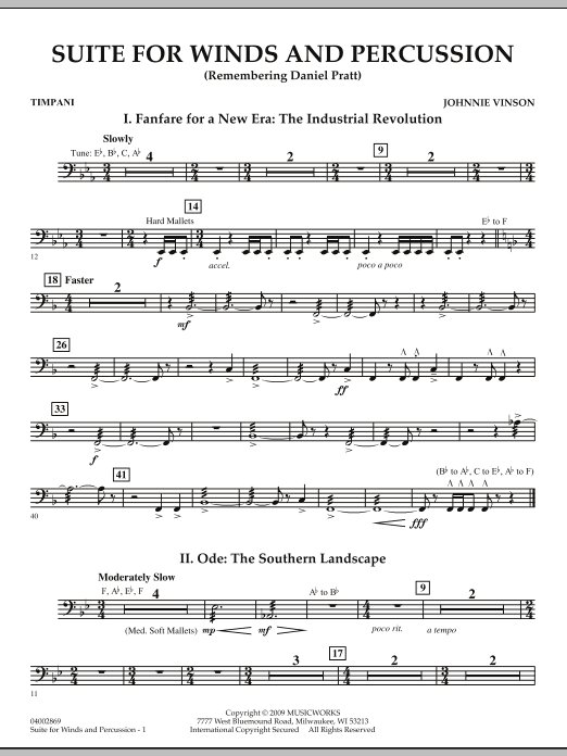 Suite for Winds and Percussion - Timpani (Concert Band)