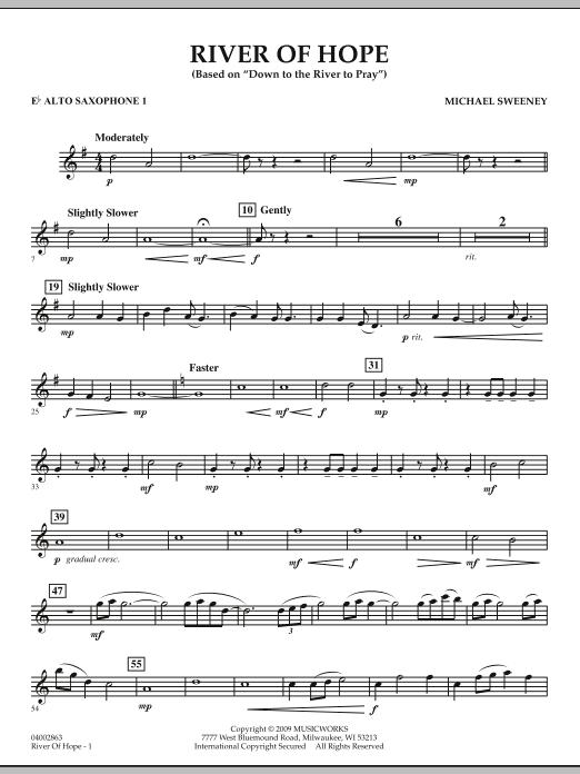 River of Hope - Eb Alto Saxophone 1 (Concert Band)