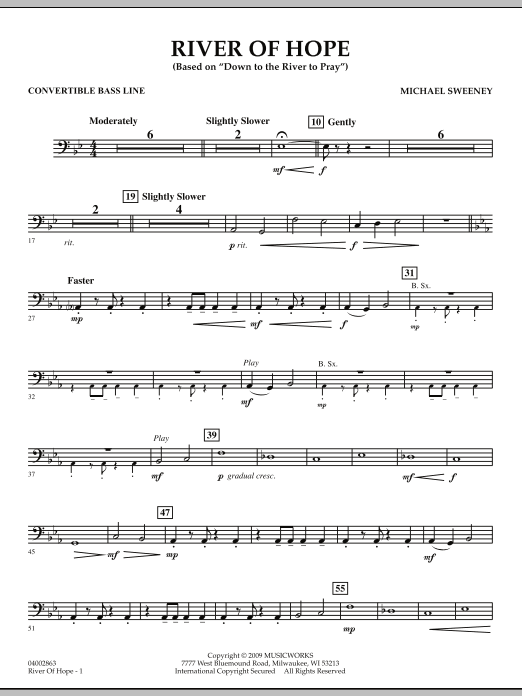 River of Hope - Convertible Bass Line (Concert Band)