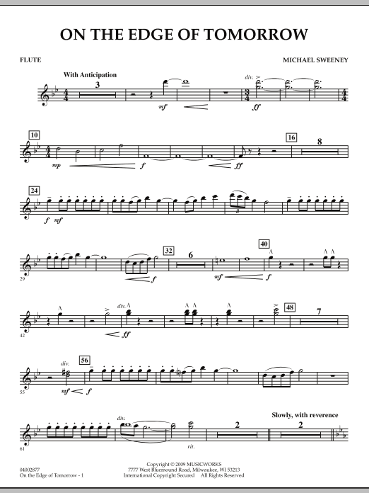 On the Edge of Tomorrow - Flute (Concert Band)