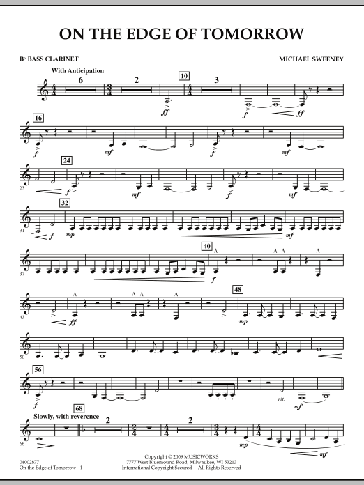 On the Edge of Tomorrow - Bb Bass Clarinet (Concert Band)
