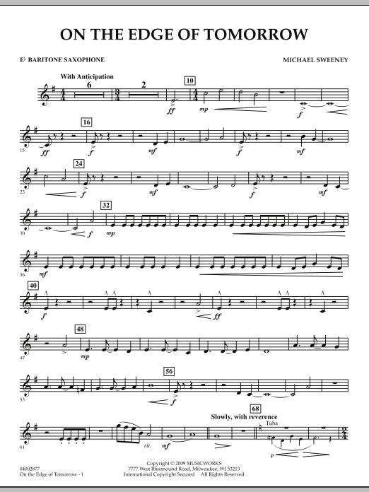 On the Edge of Tomorrow - Eb Baritone Saxophone (Concert Band)