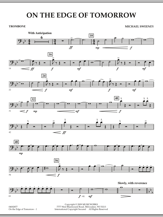 On the Edge of Tomorrow - Trombone (Concert Band)