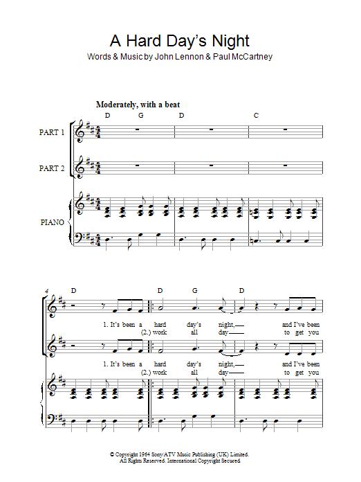 A Hard Day's Night (arr. Rick Hein) Sheet Music