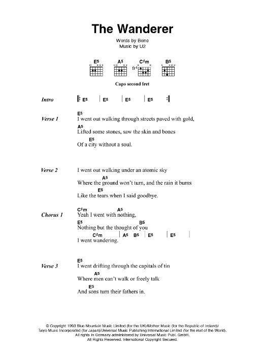 The Wanderer by Johnny Cash - Guitar Chords/Lyrics - Guitar Instructor