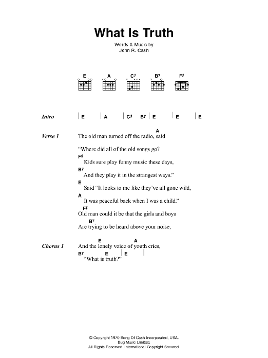 What Is Truth Sheet Music