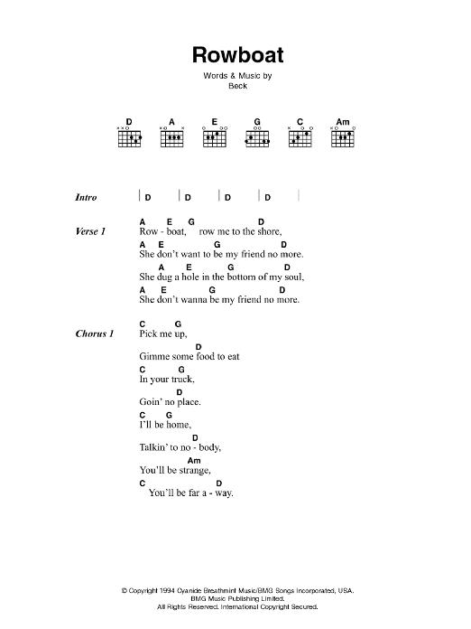 Rowboat Sheet Music