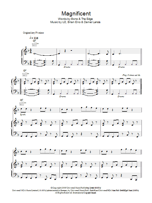 Magnificent Sheet Music