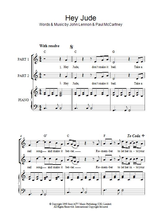 Hey Jude (arr. Rick Hein) Sheet Music
