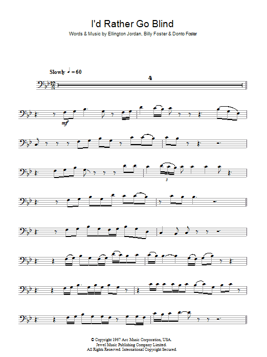 I\'d Rather Go Blind | Sheet Music Direct