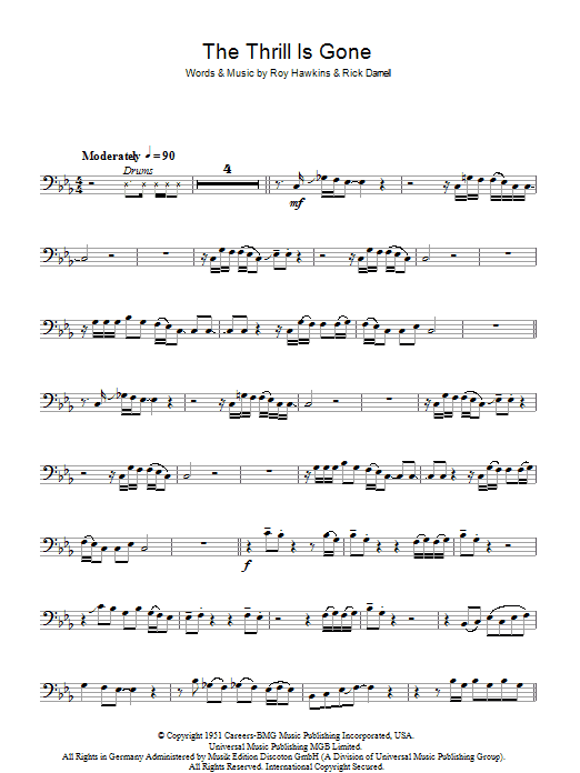 The Thrill Is Gone (Bass Guitar Tab)