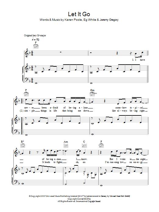 Let It Go (Piano, Vocal & Guitar)
