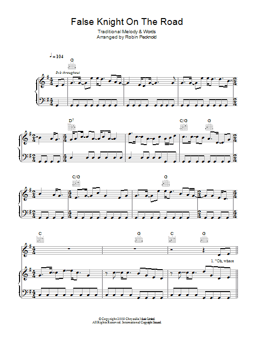False Knight On The Road Sheet Music