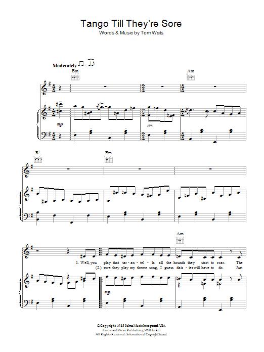 Tango Till They're Sore (Piano, Vocal & Guitar)