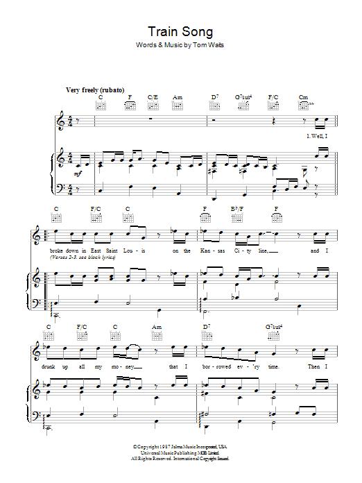 Train Song (Piano, Vocal & Guitar)