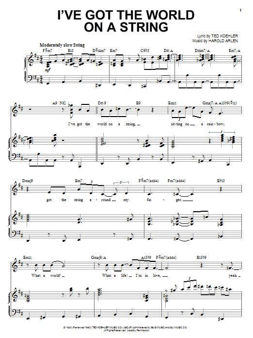 I've Got The World On A String Sheet Music