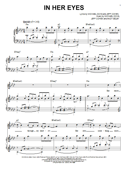 In Her Eyes Sheet Music