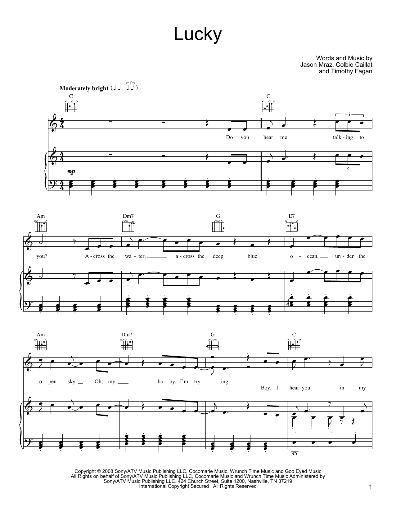 Guitar : lucky guitar chords jason mraz Lucky Guitar or Lucky ...