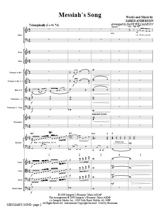 Messiah's Song - Full Score Sheet Music