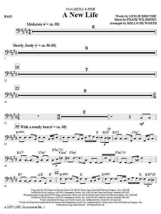 A New Life (from Jekyll & Hyde) - Bass (Choir Instrumental Pak)