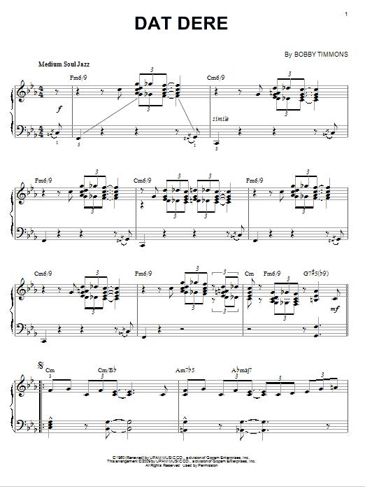 Dat Dere (arr. Brent Edstrom) (Piano Solo)