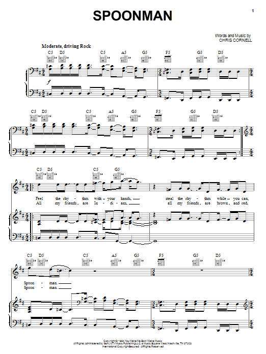 Spoonman (Piano, Vocal & Guitar (Right-Hand Melody))