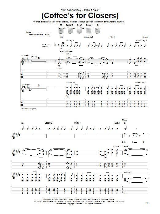 (Coffee's For Closers) (Guitar Tab)