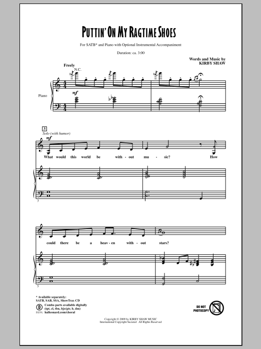 Puttin' On My Ragtime Shoes Sheet Music