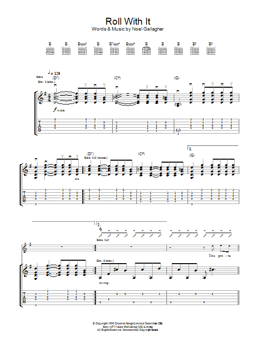 Roll With It Sheet Music